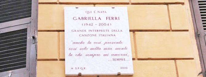 """Nasce il centro culturale """"Gabriella Ferri"""""""