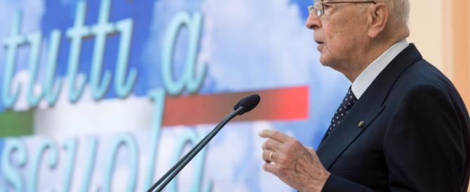 «Non si parli di colpo di Stato»: Napolitano lancia moniti al Pdl ma anche lui è sotto assedio dei pm
