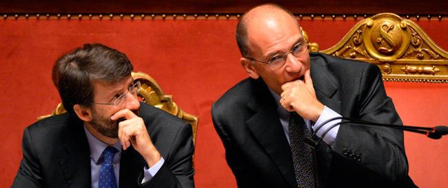 Letta: chiedo la fiducia per l'Italia. E cita Croce: ciascuno ora si ritiri nella sua coscienza