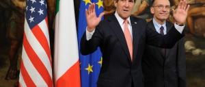 Spionaggio Usa, Letta fa la voce grossa con Kerry. Alfano: «Non guarderemo in faccia nessuno»
