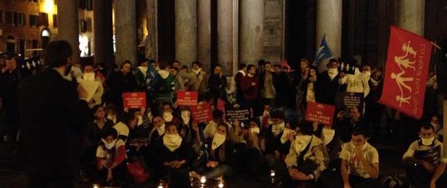 «Per la famiglia naturale»: al Pantheon in migliaia contro la legge Scalfarotto