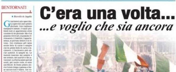 Con amicizia e affetto, lascio la direzione del Secolo d'Italia