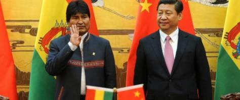 Evo Morales in Beijing