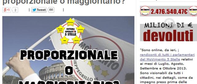 """Grillo lancia un'altra consultazione """"lampo"""" su Internet per scegliere la legge elettorale"""