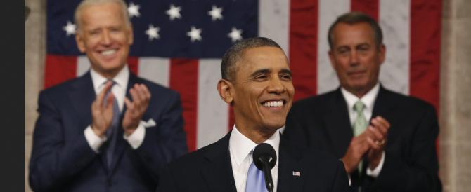 Obama promette il riscatto dell'America nel 2014 e illustra l'ennesimo libro dei sogni