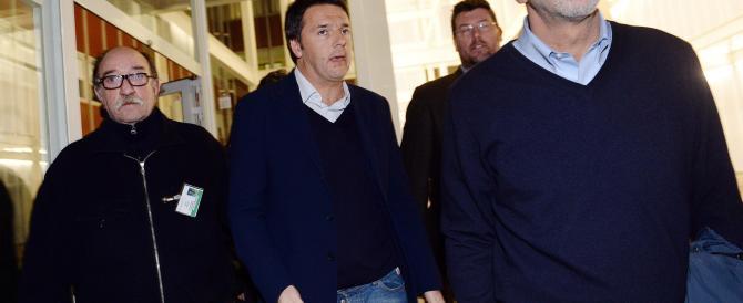 """Bersani migliora, Renzi lo va a trovare e gli porta """"l'abbraccio di tutto il partito"""""""