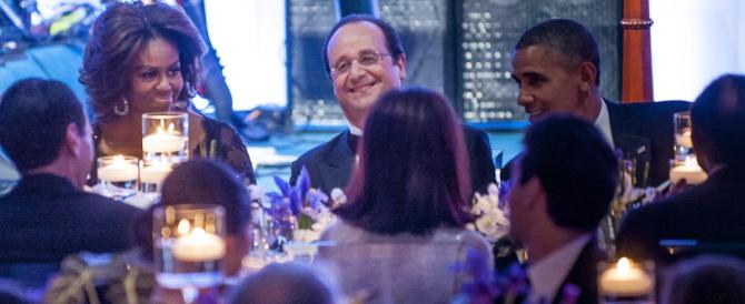 """Hollande a cena alla Casa Bianca da """"single"""", tra vip e mondanità e un po' di imbarazzo"""
