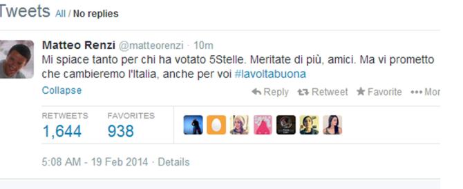 """La rete incorona Renzi come miglior """"comico"""" per la battuta """"Beppe esci dal blog"""". Ma c'è poco da ridere…"""