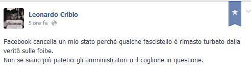 Un consigliere di Milano su Facebook: nelle foibe c'è ancora posto. Il post viene cancellato, ma lui lo rivendica e onora il maresciallo Tito