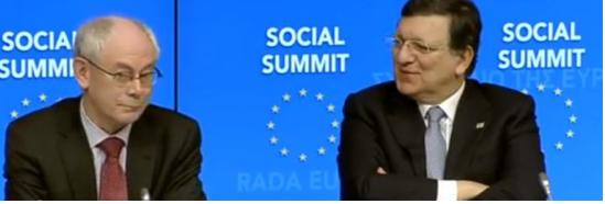 Ci risiamo con gli eurosiparietti: sorrisetti sprezzanti verso l'Italia tra Barroso e Van Rompuy