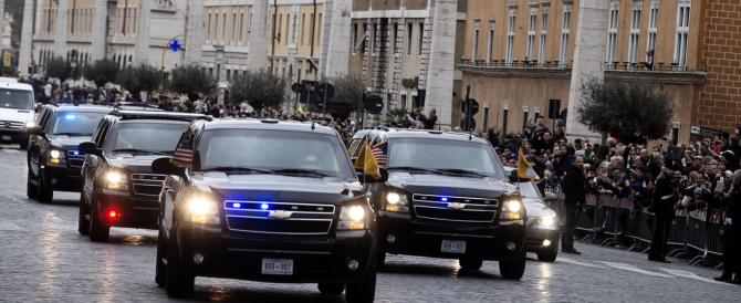 Obama è arrivato in Vaticano: «Il Santo Padre ispira il mondo con il suo messaggio d'amore»