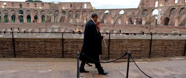 Dopo che c'è stato Barack… piace anche al Pd il restauro del Colosseo griffato Tod's
