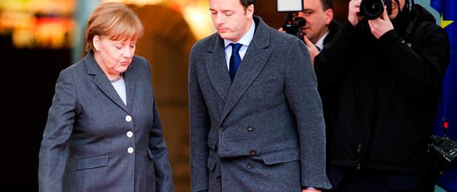 Renzi abbaia ma la Merkel morde: «Basta, l'Italia ha già avuto troppo sconti»