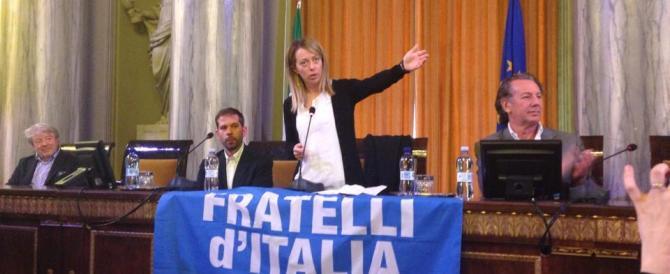 Giorgia Meloni da Trieste: arriveremo al 4%. Il Cav? «Speriamo possa fare campagna elettorale…»