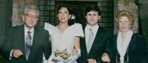 Isabella Rauti dona l'abito da sposa all'atelier solidale delle suore di Cascia. Abiti gratis a chi non può permetterselo