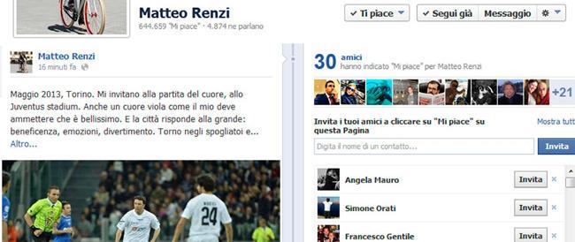 Renzi rinuncia alla Partita del Cuore e fa la vittima: che sofferenza, non giocare con Baggio e Batistuta…