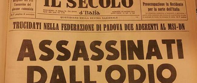 """Quarant'anni fa l'omicidio di Mazzola e Giralucci. Gli articoli del """"Secolo"""" sul primo delitto delle Br"""