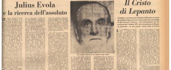 Dall'idealismo al nichilismo attivo: così il Secolo ricordava Julius Evola, il filosofo scomparso 40 anni fa