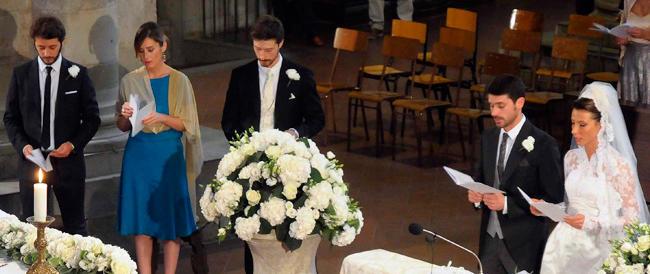 Si sposa il fratello del ministro Boschi, lei fa la testimone. E per certa stampa è subito evento
