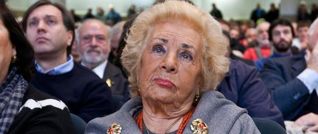 L'appello di Donna Assunta Almirante: «a destra devono mettersi d'accordo»