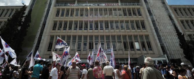 Grecia, un anno fa la chiusura della tv pubblica: sciopero e proteste per la riapertura