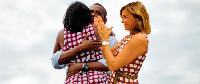 La Parodi vestita come Michelle Obama per festeggiare la vittoria del marito. A Bergamo…