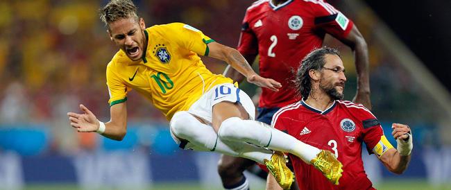 Brasile-Germania fa felici organizzatori e sponsor, ma l'infortunio di Neymar rovina la festa