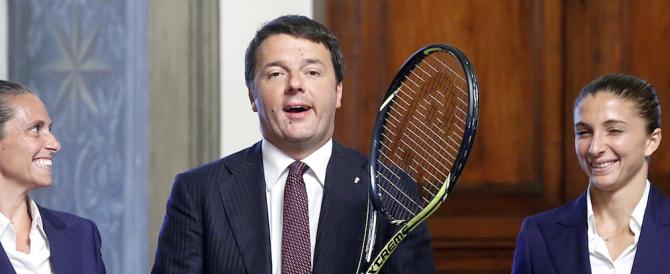 Renzi, mister Passerella: dalle tenniste a Nibali fino alla Concordia, lui c'è sempre. Ma lavorare, no?