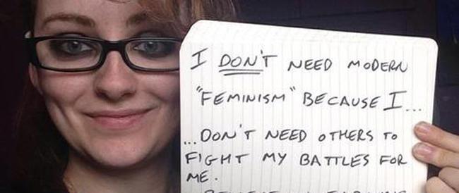 Ecco l'antifemminismo via web: un selfie per dire che i maschi non vanno criminalizzati