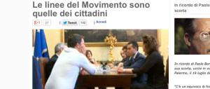 """Contrordine grillini. Niente tavoli con il """"nemico"""" Renzi sulle riforme. Ora Beppe fa la voce grossa"""