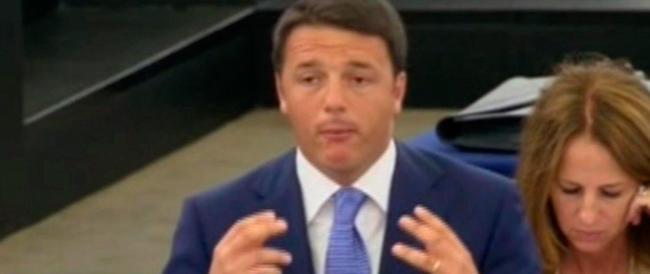 """Ue, Renzi si atteggia a """"piccolo Kennedy"""" ma dispensa solo fumo. Non una parola sui marò…"""