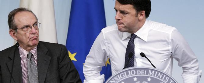 Renzi vince sul Senato dei 100 ma è costretto ad ammettere che la finanza pubblica fa acqua