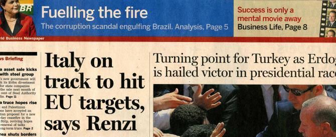 Intervista al FT, Renzi fa la vittima: contro di me le trame delle lobby