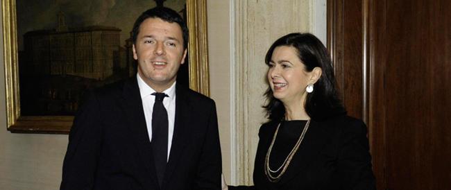 """Renzi e la Boldrini si vestono da scout: """"The show must go on"""", lo spettacolo deve continuare"""