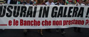 Cento miliardi negati dalle banche agli italiani: la crisi fa aumentare il lavoro solo per gli usurai