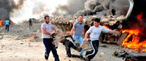 Dalle secchiate d'acqua a quelle di sangue: campagna choc contro i crimini di guerra a Gaza e in Siria