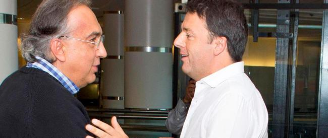 """Renzi a Detroit: è scontro tra poteri forti. Marchionne lo difende, Della Valle lo """"schiaffeggia"""""""