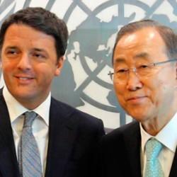 Renzi all'Onu parla dell'emergenza climatica mentre a Roma Bersani scatena la tempesta sull'articolo 18