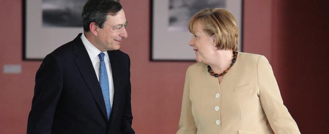 """La Merkel fa la voce grossa anche con Draghi per bloccare le aperture alla """"flessibilità"""" dei conti"""