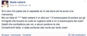 Marò, il drammatico sfogo di Giulia Latorre: «Papà ha un'ischemia, un'altra bella notizia… E l'Italia che fa?»