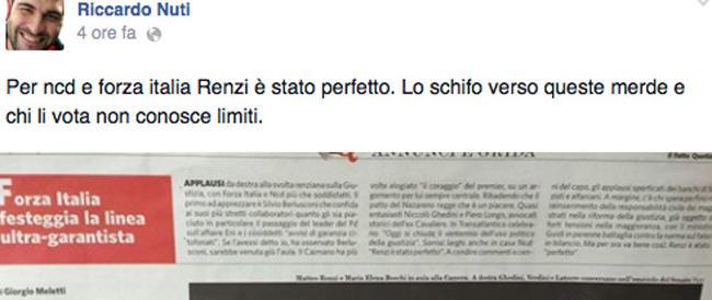 """Dal deputato Cinquestelle insulti su Fb: chi vota centrodestra è una """"merda"""". Protesta il partito di Alfano"""