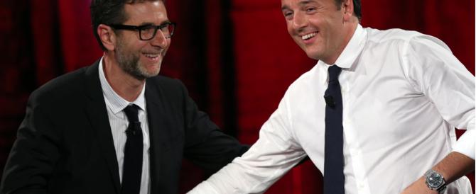 Il triste show di Renzi da Fazio: sfida il suo Pd sull'articolo 18 e fa battute sulla statura di Brunetta