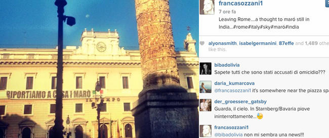 La direttrice di Vogue Italia a sostegno di Latorre e Girone. Su Instagram scrive: «Un pensiero ai marò»