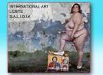 Donna grassa e nuda calpesta un'immagine religiosa: il manifesto dei gay fa arrossire pure Fassino