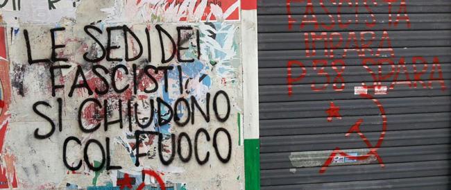 """Minacce contro la sede FdI di Garbatella: """"Fascista impara, P38 spara…"""""""