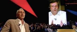 """Storica lite in diretta tra Santoro e Travaglio: vera rottura o """"sceneggiata"""" per fare audience?"""