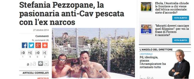"""La Pezzopane con l'ex narcos. Una foto di """"Libero"""" fa il giro del web"""