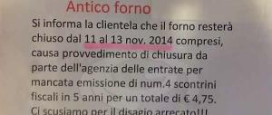 """Il nuovo fisco """"umano"""" di Renzi: evadi 4 euro? Locale chiuso per 3 giorni"""