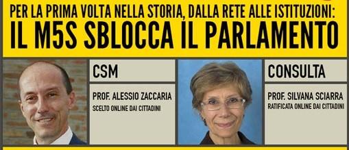 """Consulta-Csm, """"scambio"""" tra Renzi e Grillo: eletti Sciarra e Zaccaria"""