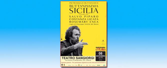 """""""Buttanissima Sicilia"""" dà spettacolo: a teatro il successo di Buttafuoco"""